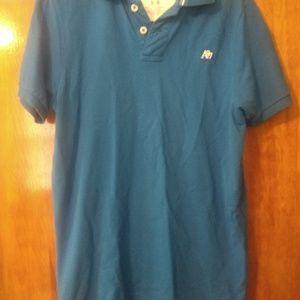 Mens Aeropostale Blue Polo Shirt Medium